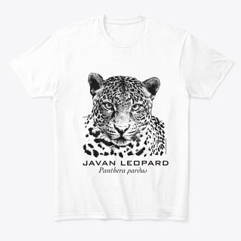 Indonesia Wildlife : Javan Leopard White T-Shirt Front
