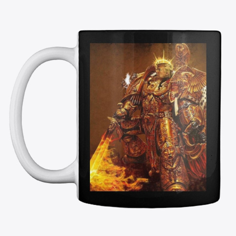 God Emperor Trump Black Mug Front