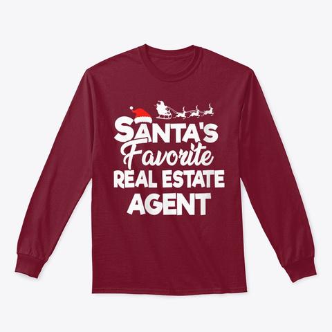 Womens Santas Favorite Real Estate Agent Cardinal Red T-Shirt Front
