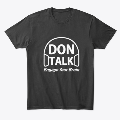 Don Talk Black T-Shirt Front