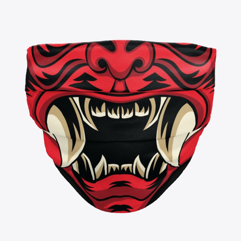 Demon Art Oni Face Standard T-Shirt Front