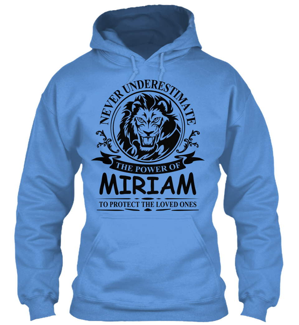 Never Underestimate The Power of Mirian Hoodie Black