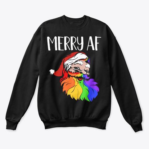 Lgbtq Ugly *Fierce* Christmas Sweatshirt Black T-Shirt Front