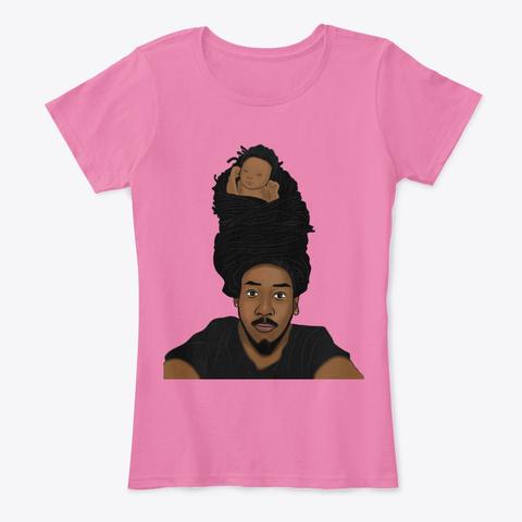Black Father Art  Endless Love Dreadlock True Pink T-Shirt Front
