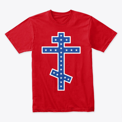 Orthodox Rebel  Red T-Shirt Front