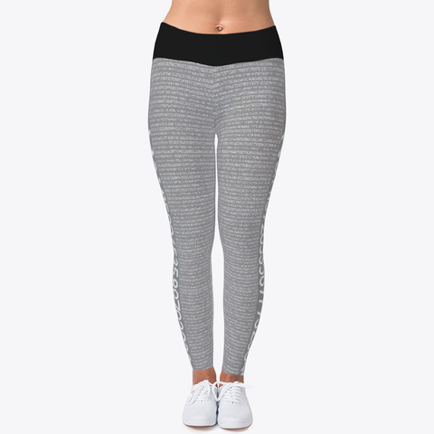 Pi Math Gray Legging Standard T-Shirt Front