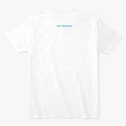 Milano Collection (Blue) White T-Shirt Back