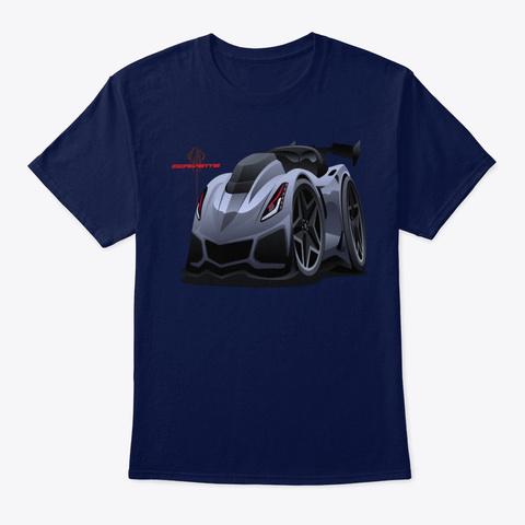 Super Sport Muscle Race Car Tee Shirt Navy T-Shirt Front