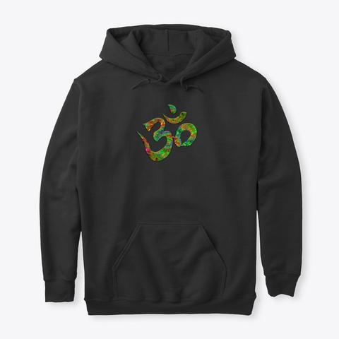 Yoga Ohm Fractal Green Black T-Shirt Front