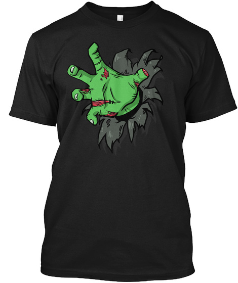 Zombie Hand Black T-Shirt Front