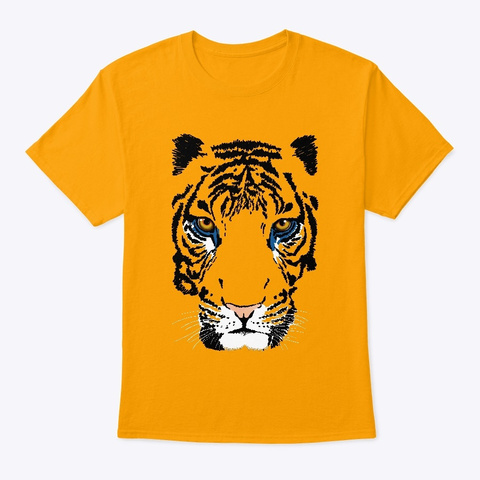 The Tiger  Gold T-Shirt Front