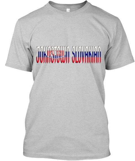 Slavic Fest Johnstown   Slovakian Light Steel T-Shirt Front