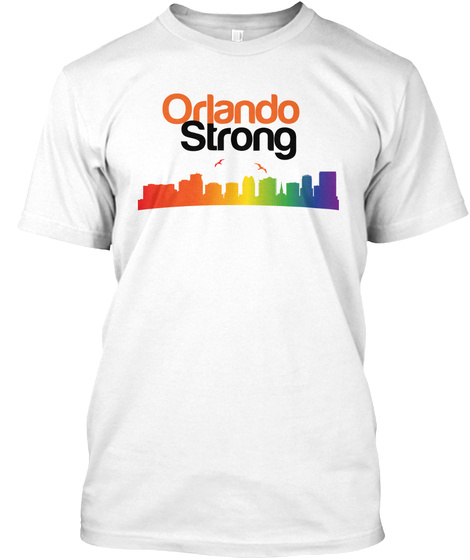 Orlando Strong White T-Shirt Front