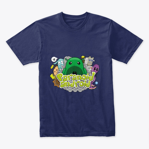 Paranoid Android Doodle Midnight Navy T-Shirt Front