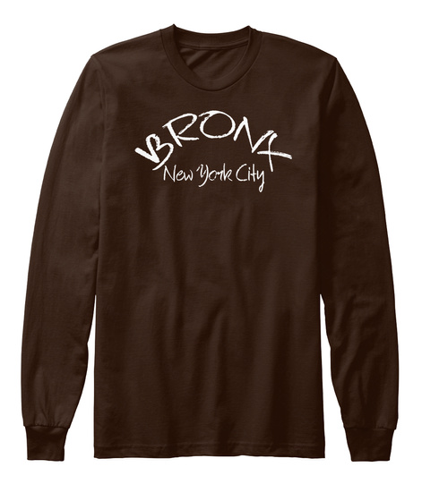 Bronx New York City Brown T-Shirt Front