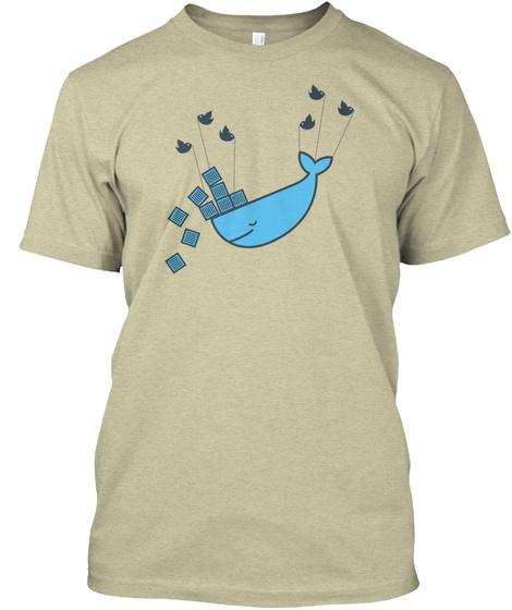 Lifting A Docker Oatmeal T-Shirt Front