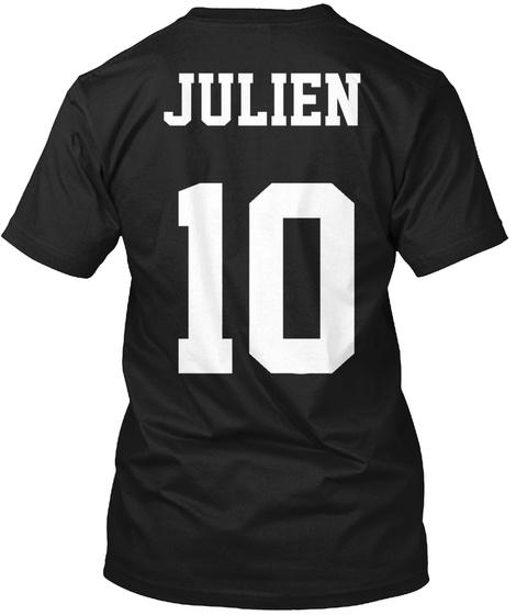 Julien 10 Black T-Shirt Back