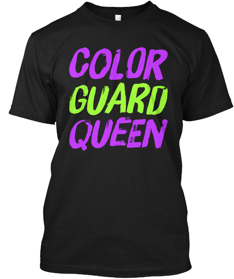 Color Guard Queen Black T-Shirt Front