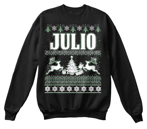 Julio Black T-Shirt Front