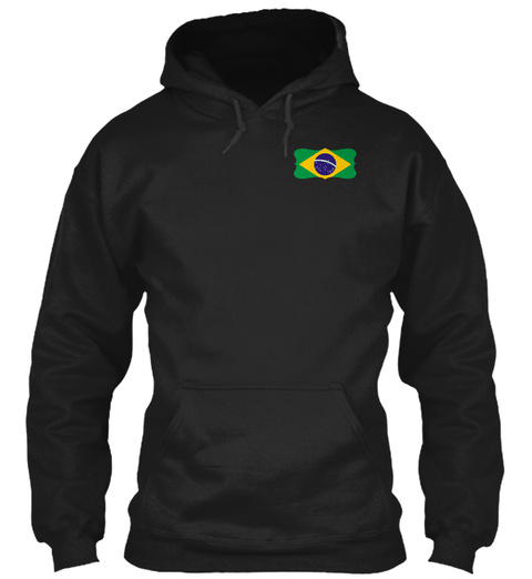 Crazy Brazilian Black T-Shirt Front