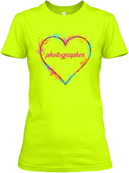 Photographer Safety Green T-Shirt Front