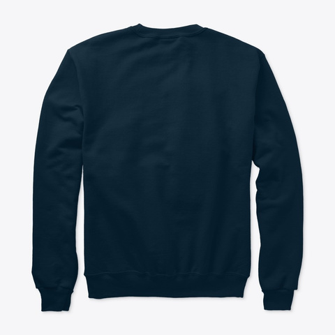 Champion Hate Less Cook More Sweatshirt Navy T-Shirt Back
