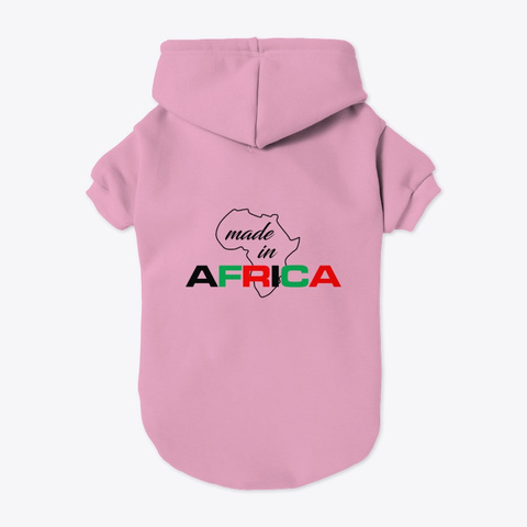 Made In Africa Light Pink T-Shirt Back