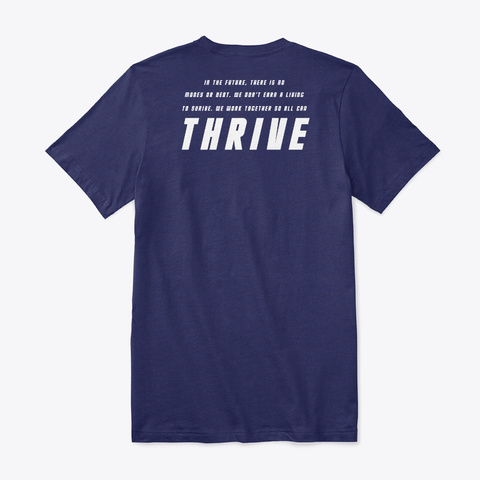 In The Future There Is No Money Navy T-Shirt Back