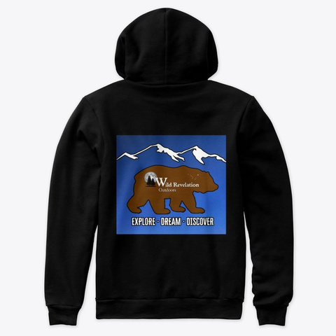 Kodiak Bear Premium Hoodie Black T-Shirt Back