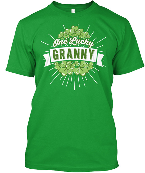 One Lucky Granny  Kelly Green T-Shirt Front