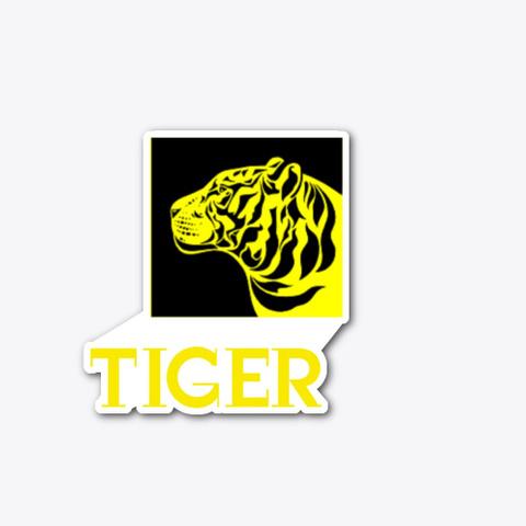 Tiger, Yellow,  Standard T-Shirt Front