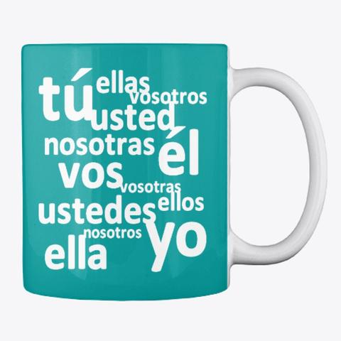 Spanish Subject Pronouns Aqua T-Shirt Back
