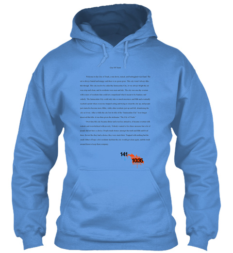 141 10:35 Carolina Blue T-Shirt Front