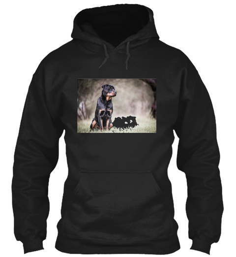 Rottweiler Fine Art Portrait Black T-Shirt Front