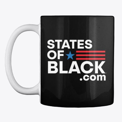 States Of Black™ Black T-Shirt Front