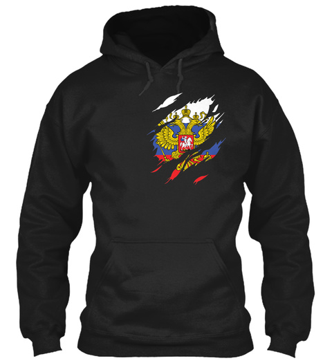Russia In My Heart Limited Edition Black Camiseta Front