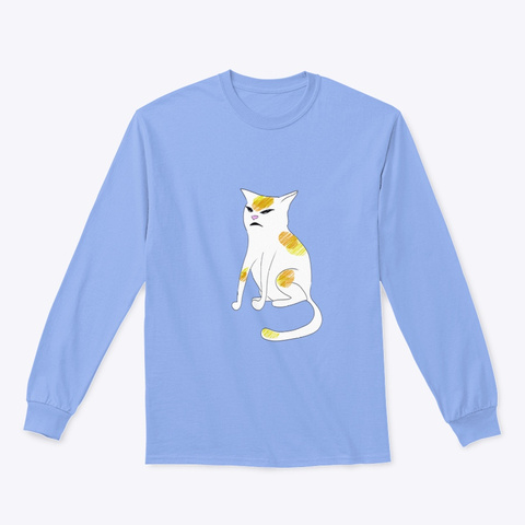 The Cat Emotes, What Is This?  Light Blue T-Shirt Front