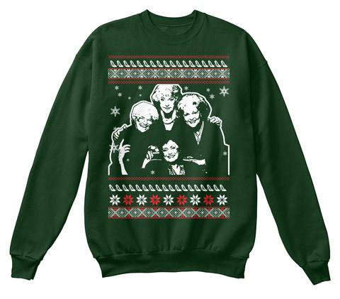The Golden Girls Ugly Sweater Deep Forest  T-Shirt Front