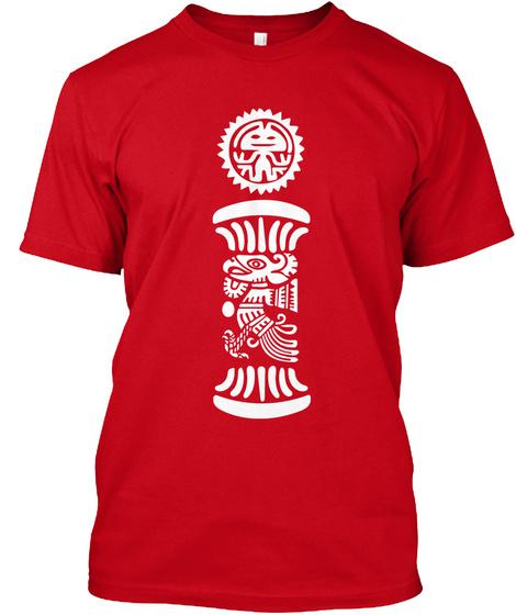 Mayan Sun Red T-Shirt Front