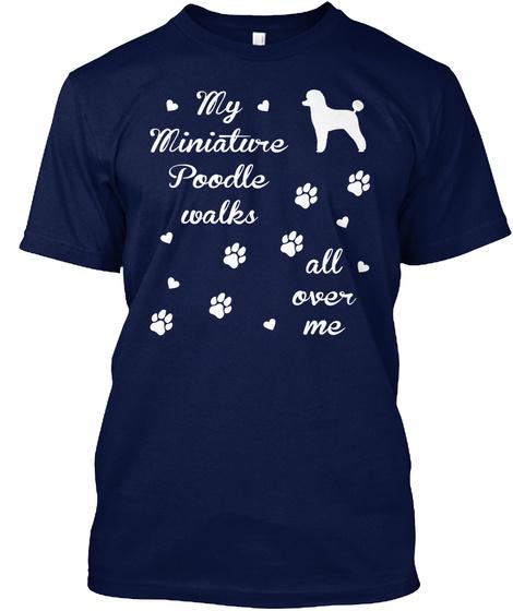 Miniature Poodle Navy T-Shirt Front