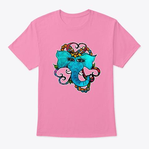Flower Elephant Pink T-Shirt Front