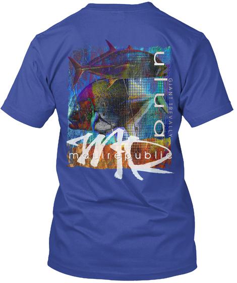 Ulua Mosaic (Giant Trevally) Deep Royal T-Shirt Back