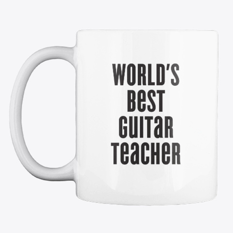 Marty Music World's Best Guitar Teacher White T-Shirt Front