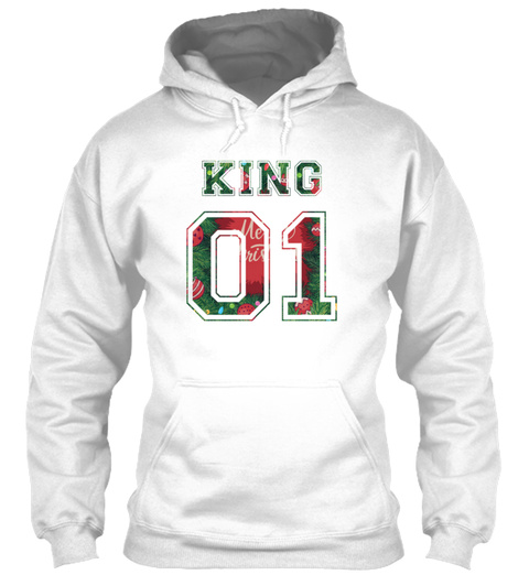 King And Queen Shirts Couple Love 15 White T-Shirt Front