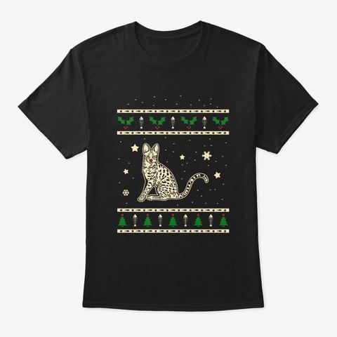 Christmas Savannah Gift Black T-Shirt Front