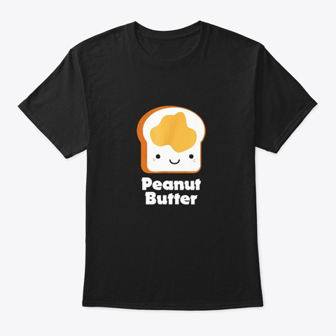 Matching Set Peanut Butter And Jelly Black T-Shirt Front