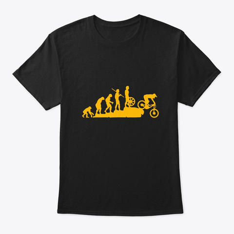 Downhill Evolution Mountainbike Black T-Shirt Front