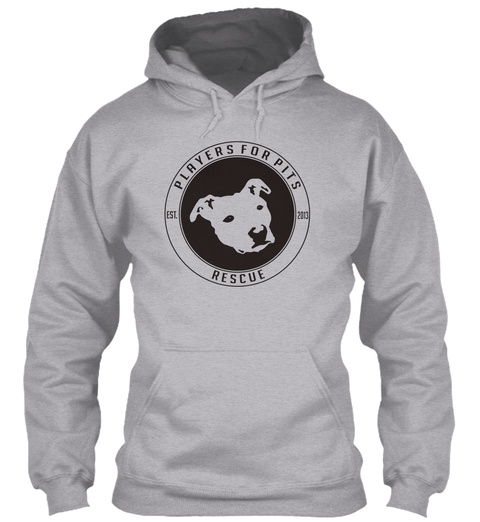 Players For Pits Rescue Est.2013 Sport Grey T-Shirt Front