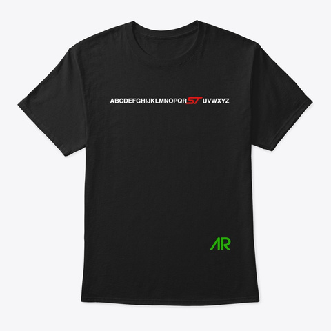 Abc For St Lovers! Black T-Shirt Front