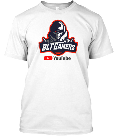 Blt Gamers  White T-Shirt Front